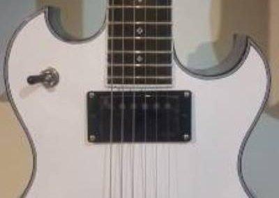 cool custom pure white electric bass guitar from custom guitar shop