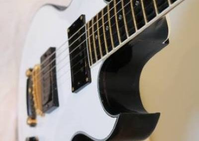 cool custom pure white electric bass guitar for sale