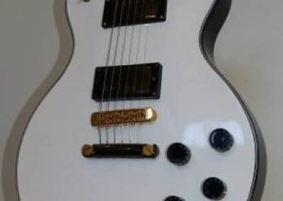 cool custom pure white electric bass guitar from custom guitar store