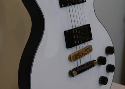 cool custom pure white electric bass guitar body
