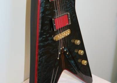 cool custom dark ocean blue electric bass guitar from custom guitar store