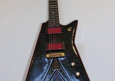 cool custom dark ocean blue electric bass guitar for sale