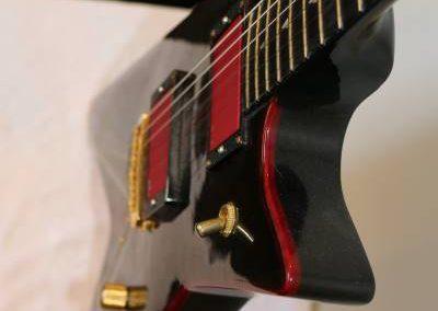 cool custom dark ocean blue electric bass guitar body