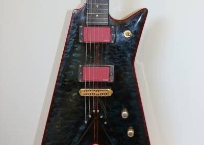 buy your own custom dark ocean blue electric bass guitar